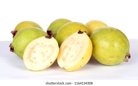 many guava fruit on table