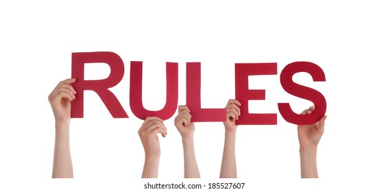 Many Hands Holding the Word Rules, Isolated