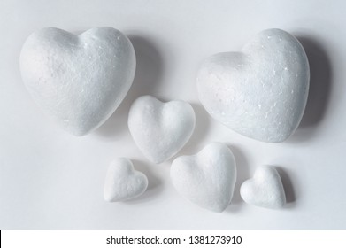 many hearts as a symbol of family on white