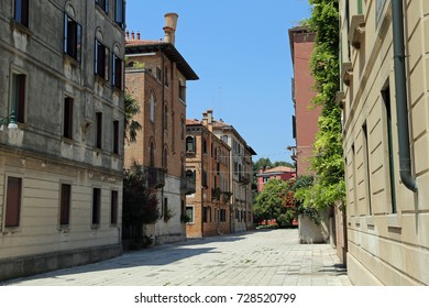 many houses and squares in the island of Saint Elena in Venice Italy