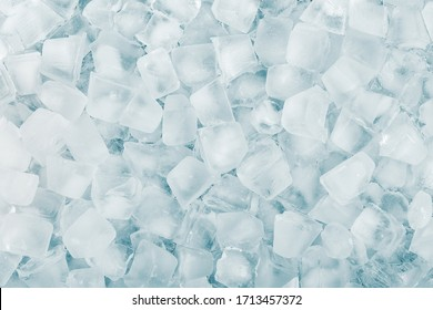 Many ice cubes. Cool background.