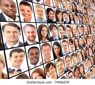 Many the isolated portraits of people