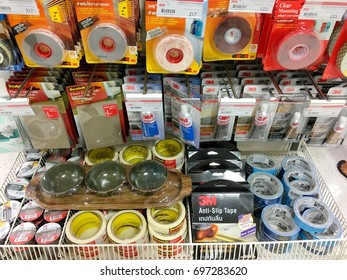 Many kinds of 3M stickers for selling in Thailand department store with its prices in Thailand Bangkok Augst 10, 2017