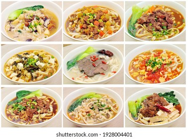 Many kinds of Chinese noodles