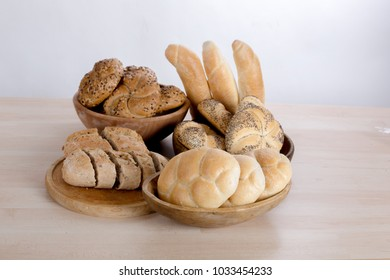 many kinds of fresh pastries in a bowl