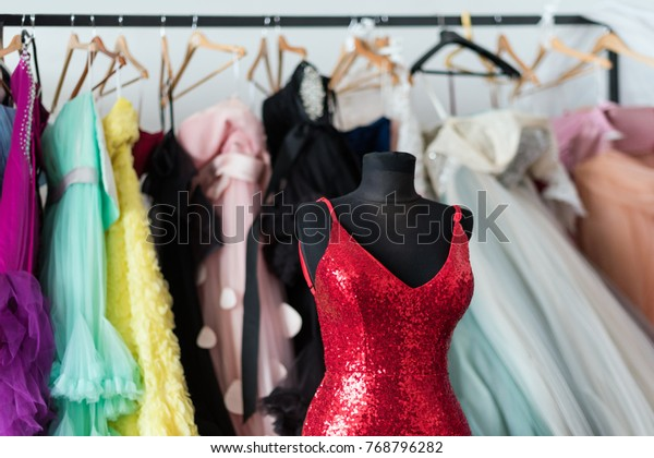 Many Ladies Evening Gown Long Dresses Stock Photo Edit Now 768796282