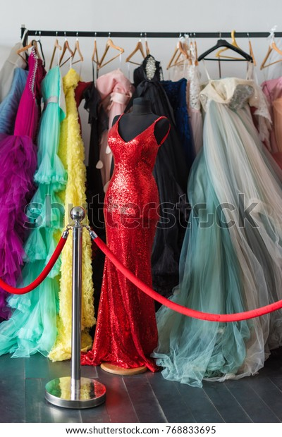 Many Ladies Evening Gown Long Dresses Stock Photo Edit Now 768833695