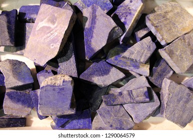 Many lapis stones as a natural background