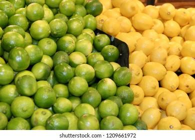 Many lemons and limes
