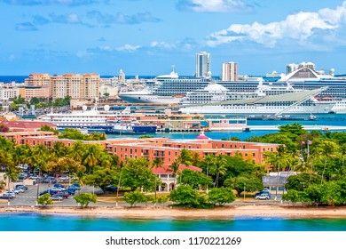 Many Luxury Cruise Ships in San Juan