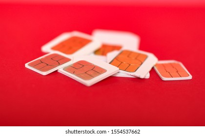 Many mini micro and nano sim cards for mobile telephone