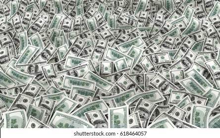 many much money texture. 3d illustration