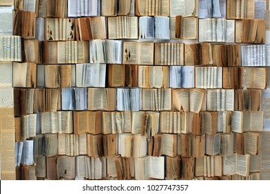 Many old books as background