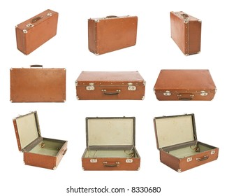 Many Old Suitcases