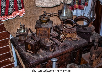 Many old tools from kitchen,