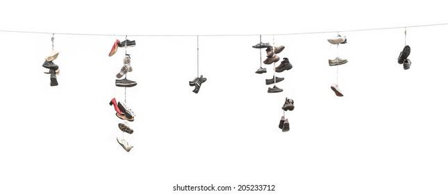hanging shoes images  stock photos  u0026 vectors