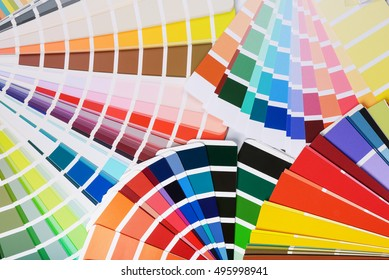 Many open color palette swatches