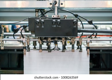 Many paper and supply unit suction system  in modern and high technology of automatic publication or printing machine