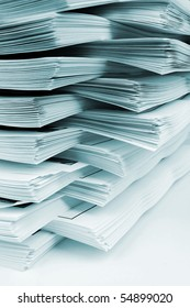 Many papers were piled up