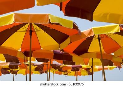 Many parasol directly above