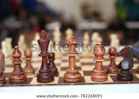 Many Pieces On Chess Game Board Stock Photo (Edit Now