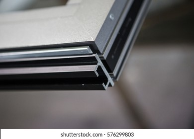 Many profiles./Aluminum aluminum color, industrial processes
