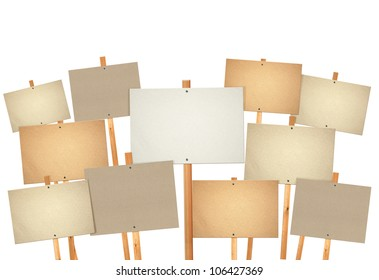 many protest sign boards