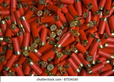 many randomly scattered cartridges