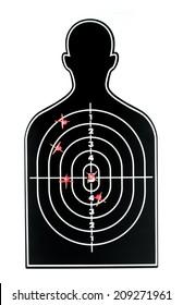 Many Red arrow on black profile shape dart board