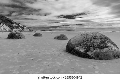 many rocks on the beach - Shutterstock ID 1855204942