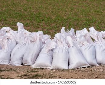 many Sandbags for flood protection