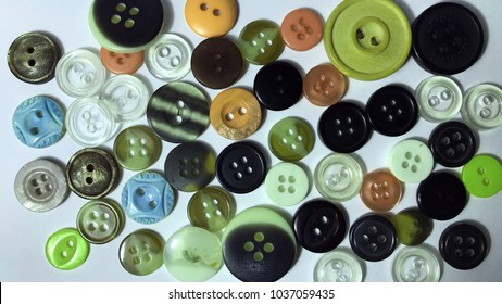Many scattered buttons