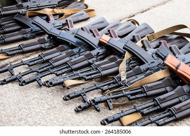 many seized weapons after the battle