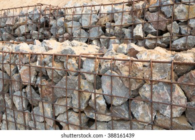 Many of the stones are in the grating for protective embankment collapses