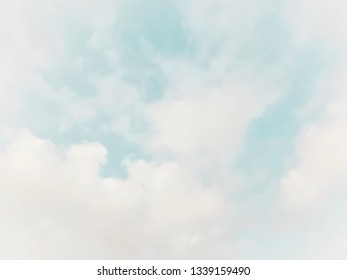 Many white clouds in the blue sky.The weather is clear today.subtle background