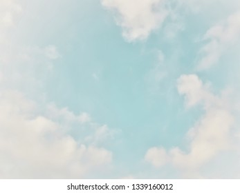 Many white clouds in the blue sky.The weather is clear