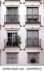 many windows on a building in almunecar spain