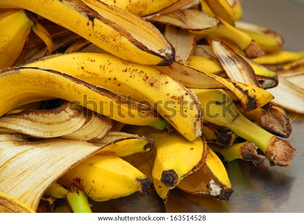 many yellow banana peels just Peel to store organic waste