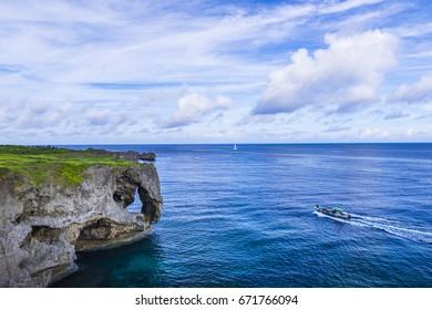 Manzamou cliff, landscape, Okinawa.