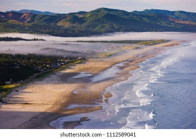 MANZANITA, OREGON, USA - JULY 18, 2009: Manzanita Beach and Pacific Ocean surf on Oregon coast.