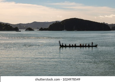 Maori Canoe (Waka) On Waitangi Day Celebrations, No Recognisable Faces / Silhouette