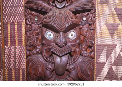 Maori carving from New Zealand