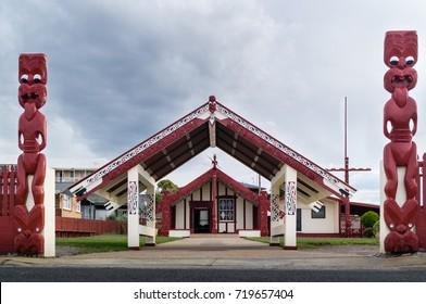 Maori Marae - Meeting ground in a Maori Village