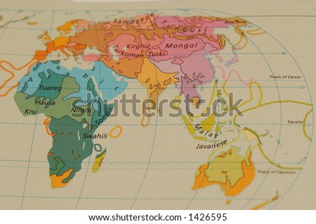 Map Africa Europe Asia Stock Photo (Edit Now) 1426595 - Shutterstock