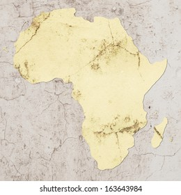 map of africa made with some textures