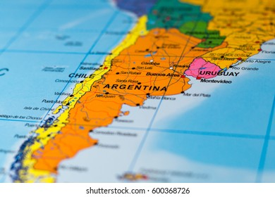 Map of Argentina - shallow focus
