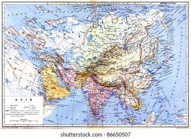 World map country names stock photos images photography the map of asia with names of cities and countries on map from the late 1800s gumiabroncs Gallery