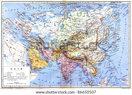Map Of Asia Names.Map Asia Names Cities Countries On Stock Photo Edit Now 86650507