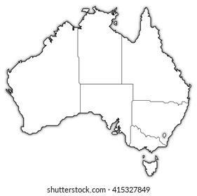 Map - Australia, Capital Territory