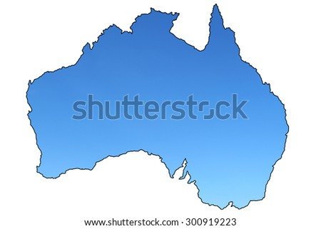 Clear Map Of Australia.Map Australia Clear Blue Skies Stock Photo Edit Now 300919223